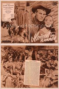 6z125 BURNING HILLS German program '56 different images of pretty Natalie Wood & Tab Hunter!