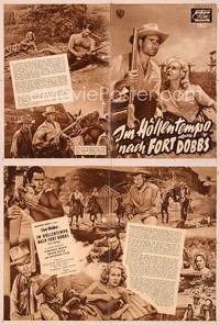 6z130 FORT DOBBS German program '58 different images of Clint Walker & sexy Virginia Mayo!