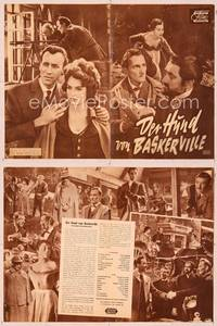6z132 HOUND OF THE BASKERVILLES German program '59 Peter Cushing, great different images!