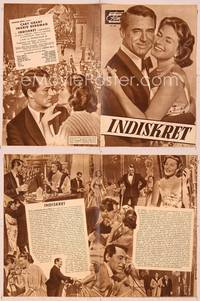 6z133 INDISCREET German program '58 many different images of Cary Grant & Ingrid Bergman!