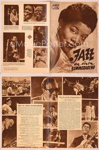 6z137 JAZZ ON A SUMMER'S DAY German program '60 Louis Armstrong, Mahalia Jackson, Dinah Washington