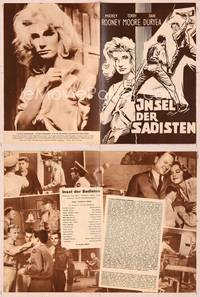 6z146 PLATINUM HIGH SCHOOL German program '60 different images of Yvette Mimieux & Mickey Rooney!