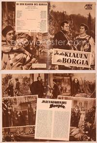 6z147 PRINCE OF FOXES German program '49 Orson Welles, Tyrone Power, Wanda Hendrix, different!