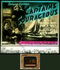 6z016 CAPTAINS COURAGEOUS glass slide '37 Spencer Tracy, Freddie Bartholomew, Lionel Barrymore