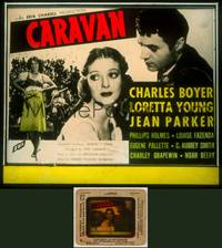 6z017 CARAVAN glass slide '34 Loretta Young, Charles Boyer, written by Samson Raphaelson!