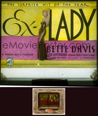 6z023 EX-LADY glass slide '33 classic sexiest full-length artwork of barely-dressed Bette Davis!