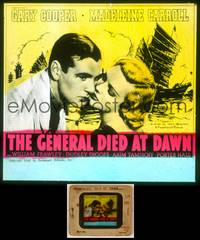 6z027 GENERAL DIED AT DAWN glass slide '36 Gary Cooper in China in love w/Madeleine Carroll!
