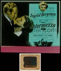 6z033 INTERMEZZO glass slide R47 beautiful Ingrid Bergman is in love with violinist Leslie Howard!
