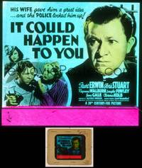 6z036 IT COULD HAPPEN TO YOU glass slide '39 Gloria Stuart gave Erwin an idea that got him jailed!