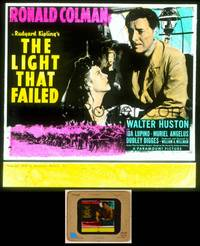 6z041 LIGHT THAT FAILED glass slide '39 Ronald Colman is a famous painter slowly going blind!