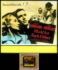 6z044 MADE FOR EACH OTHER glass slide '39 troubled young couple Carole Lombard & James Stewart!