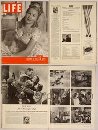 6z110 LIFE MAGAZINE magazine December 30, 1946, six-page story on It's a Wonderful Life!