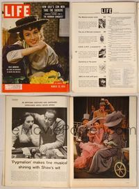6z114 LIFE MAGAZINE magazine March 26, 1956, Julie Andrews in My Fair Lady on cover + story!