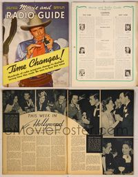 6z087 MOVIE & RADIO GUIDE magazine Apr. 27-May 3 1940, Jack Benny from Buck Benny Rides Again!