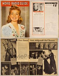 6z089 MOVIE & RADIO GUIDE magazine August 23-29 1941, Frances Langford from American Cruise!