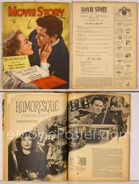 6z091 MOVIE STORY magazine January 1947, art of Joan Crawford & John Garfield from Humoresque!
