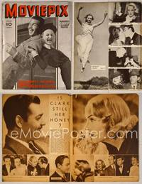 6z090 MOVIE PIX magazine Vol. 1 #1, February 1938, MacMurray & Lombard laughing back-to-back!