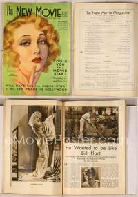 6z081 NEW MOVIE MAGAZINE magazine August 1931, sexy art of Helen Twelvetrees by Rolf Armstrong!