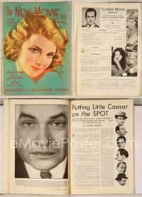 6z085 NEW MOVIE MAGAZINE magazine December 1931, artwork of pretty Elissa Landi by Andreas Randal!