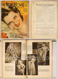 6z080 NEW MOVIE MAGAZINE magazine July 1931, wonderful art of Norma Shearer by Rolf Armstrong!