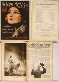 6z079 NEW MOVIE MAGAZINE magazine June 1931, sexy art of Constance Bennett by Rolf Armstrong!