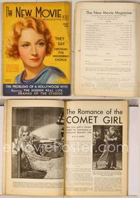 6z078 NEW MOVIE MAGAZINE magazine May 1931, great artwork of Marlene Dietrich by Jules Erbit!