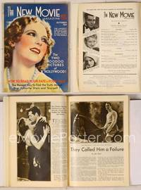 6z083 NEW MOVIE MAGAZINE magazine October 1931, wonderful artwork of pretty Dorothy Jordan!
