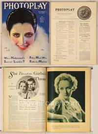 6z070 PHOTOPLAY magazine December 1930, art of glamorous Kay Francis in fur by Earl Christy!