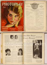 6z066 PHOTOPLAY magazine February 1930, artwork of pretty Ruth Chatterton by Earl Christy!