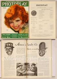6z071 PHOTOPLAY magazine January 1931, artwork of pretty winking Clara Bow by Earl Christy!