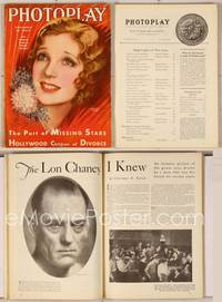 6z069 PHOTOPLAY magazine November 1930, great art of beautiful Loretta Young by Earl Christy!