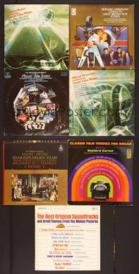 6z009 7 VINYL MOVIE SOUNDTRACK ALBUMS #2 classic scores by great composers, Herrmann, Rozsa!