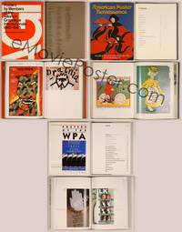6z012 3 HARDCOVER POSTER BOOKS Posters of the WPA, Alliance Graphique, American Renaissance!