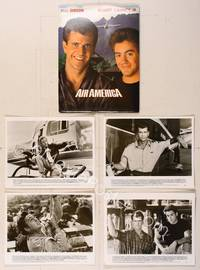 6z165 AIR AMERICA presskit '90 Mel Gibson & Robert Downey Jr. are flying for the CIA!