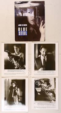6z166 BLUE STEEL presskit '90 cop Jamie Lee Curtis with gun, Clancy Brown