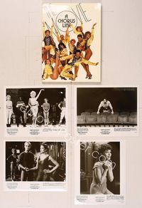 6z169 CHORUS LINE presskit '85 Michael Douglas, photo of Broadway chorus group by Demarchelier!