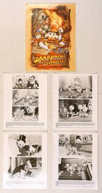 6z177 DUCKTALES: THE MOVIE presskit '90 Walt Disney, Scrooge McDuck, cool adventure art!