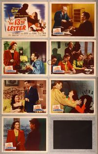 7m046 13th LETTER 7 LCs '51 Otto Preminger, sexy Linda Darnell, Charles Boyer, Michael Rennie!