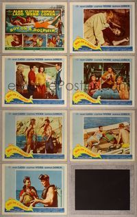 7m072 BOY ON A DOLPHIN 7 LCs '57 many images of Alan Ladd & sexiest swimmer Sophia Loren !