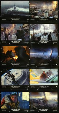 7m013 DAY AFTER TOMORROW 10 LCs '04 Dennis Quaid, wild images of huge natural disasters!