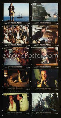 7m018 MASTER & COMMANDER 10 LCs '03 Russell Crowe, Paul Bettany, Peter Weir directed!
