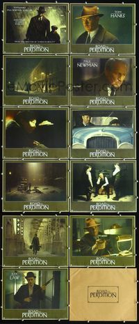 7m012 ROAD TO PERDITION 11 LCs '02 Tom Hanks, Paul Newman, Jude Law!