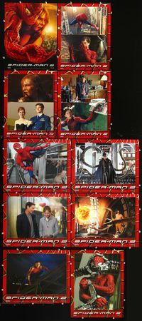 7m024 SPIDER-MAN 2 10 LCs '04 Tobey Maguire, Kirsten Dunst, Alfred Molina, Sam Raimi!