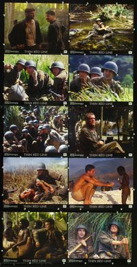 7m027 THIN RED LINE 10 LCs '98 Sean Penn, Adrien Brody & George Clooney in WWII