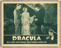 7r261 DRACULA LC R47 Tod Browning, Helen Chandler & David Manners talk to Edward Van Sloan!