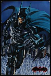 7x407 BATMAN & ROBIN batman commercial poster '97 cool artwork of George Clooney in the title role!