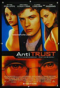 7x067 ANTITRUST special 13x20 '01 Ryan Phillippe, Rachael Leigh Cook, Claire Forlani, Robbins!