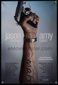 7x119 CRANK special poster '06 Jason Statham, creepy image of arm with popped veins!