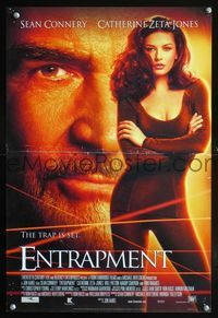 7x144 ENTRAPMENT special poster '99 close up Sean Connery & full-length sexy Catherine Zeta-Jones!
