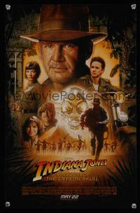 7x192 INDIANA JONES & THE KINGDOM OF THE CRYSTAL SKULL advance special poster '08 Spielberg, Ford!
